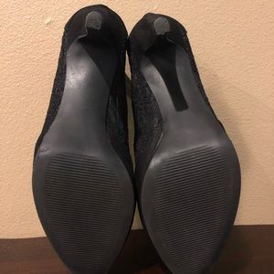 Jellypop Shoes - Black Tyrese Pump Lacy High Heels 8.5 M Jellypop